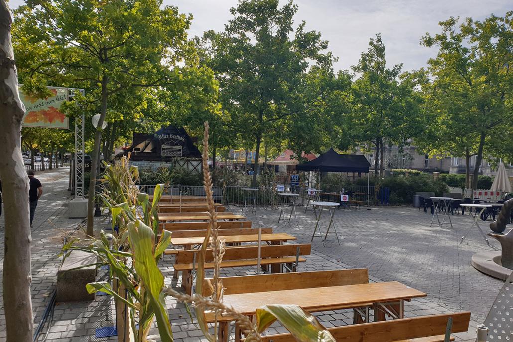 Biergarten am Paradiesbrunnen